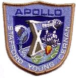 Lion Brothers plastic backed Apollo 10 patch