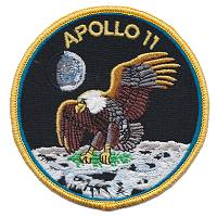Apollo 11 crew patch replica
