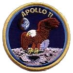 Lion Brothers plastic backed Apollo 11 patch