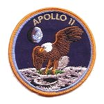 Lion Brothers orange border Apollo 11 patch