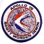 Lion Brothers plastic backed Apollo 15 patch