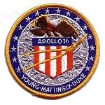 Lion Brothers plastic backed Apollo 16 patch