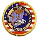 Lion Brothers plastic backed Apollo 1 patch