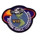 Lion Brothers plastic backed Apollo 7 patch