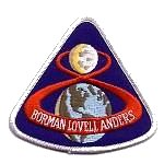 Lion Brothers plastic backed Apollo 8 patch
