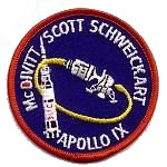 Lion Brothers plastic backed Apollo 9 patch