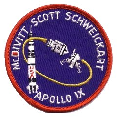 Apollo 9 crew souvenir patch