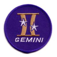 Blue background Gemini Project replica patch