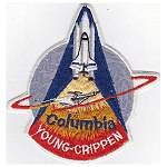 Lion Brothers canvas backed STS-1 patch